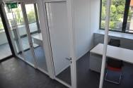 Porte vitrée type cadre aluminium